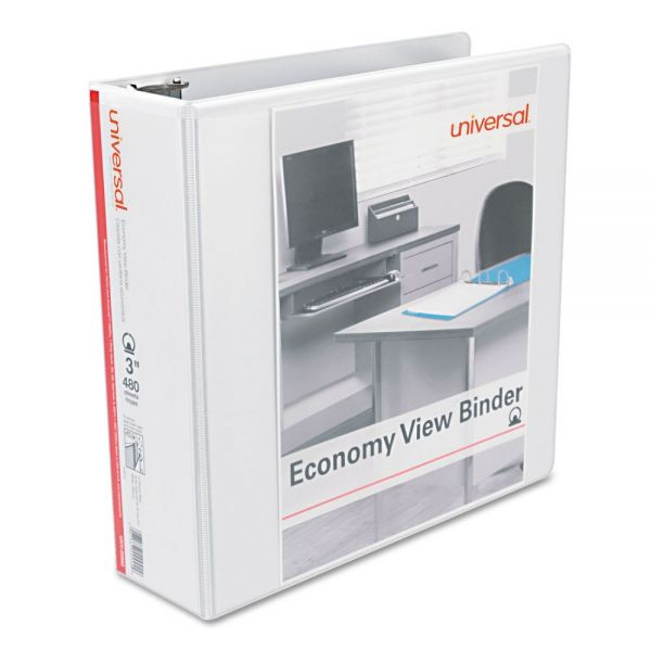 "Universal Economy 3"" 3-Ring View Binders"