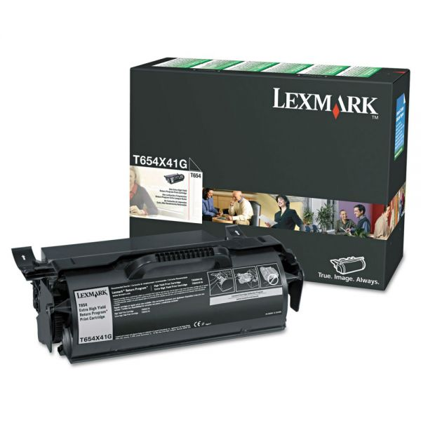 Lexmark T654X41G Black Extra High Yield Toner Cartridge