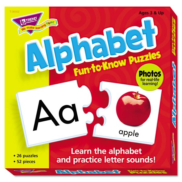 TREND Fun to Know Puzzles, Alphabet