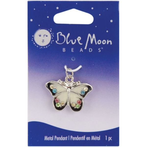 Blue Moon Metal Pendant 1/Pkg