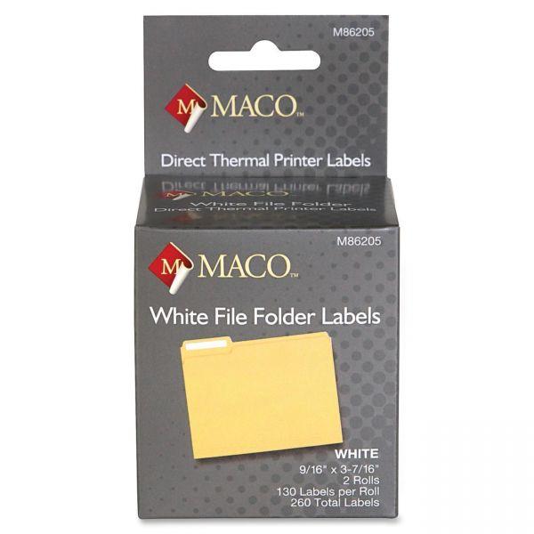 Maco Direct Thermal File Folder Labels