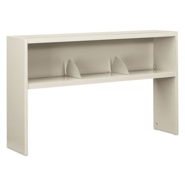 HON 38000 Series Stack On Open Shelf Hutch, 60w x 13 1/2d x 34 3/4h, Light Gray