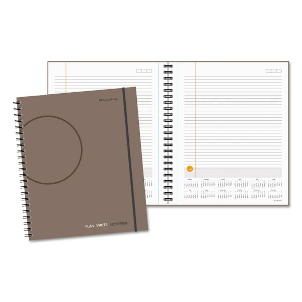 At-A-Glance Daily Planning Notebook With Reference Calendar