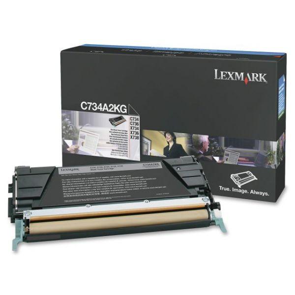 Lexmark C734A2KG Black Toner Cartridge