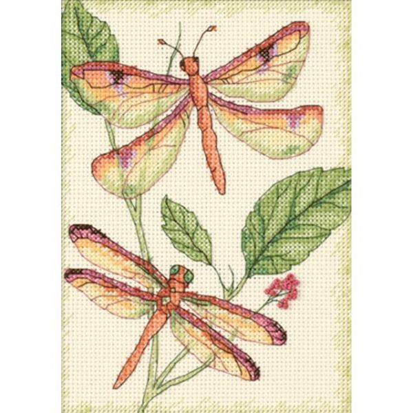 Dimensions Dragonfly Duo Counted Cross Stitch Kit