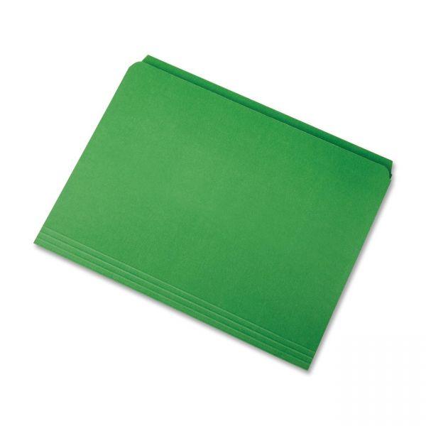 SKILCRAFT Green Colored File Folders
