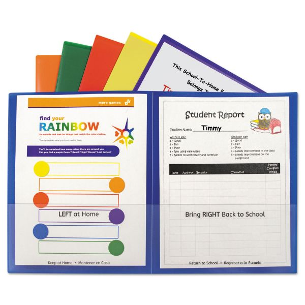 C-Line Classroom Connector Two-Pocket Folders