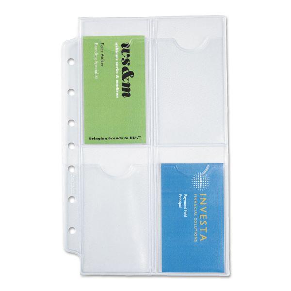 Day-Timer Desk Business Card Holder Pages