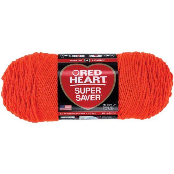 Red Heart Super Saver Yarn - Flame