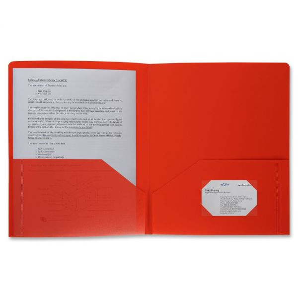 Business Source 2-Pocket Poly Folder