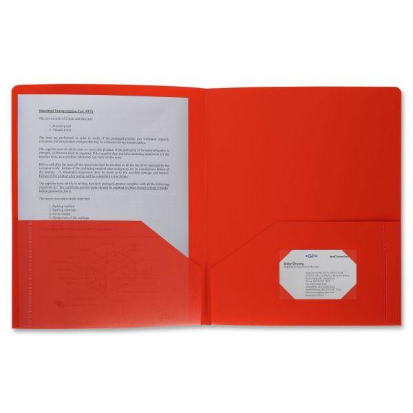 Business Source 2-Pocket Poly Folder