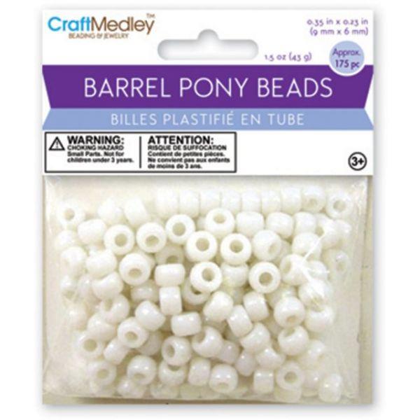 Craft Medley Barrel Pony Beads