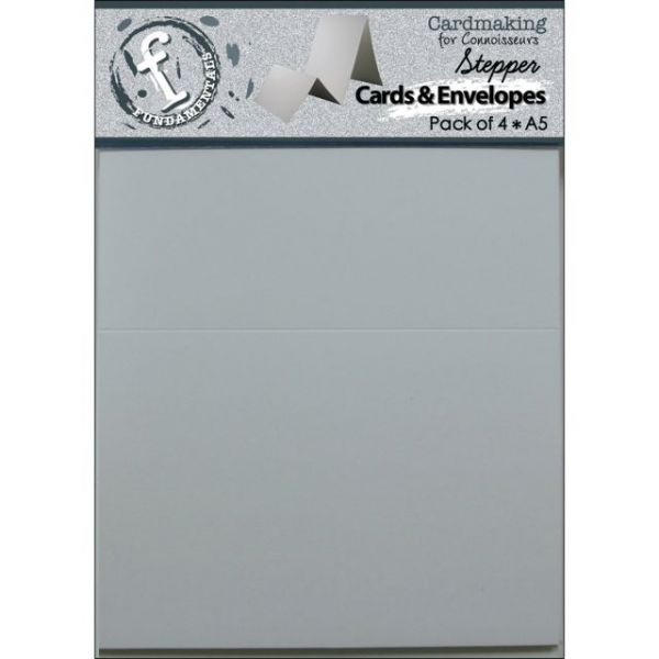 "Fundamentals Stepper A5 Cards & Envelopes 8.5""X5.5"" 4/Pkg"