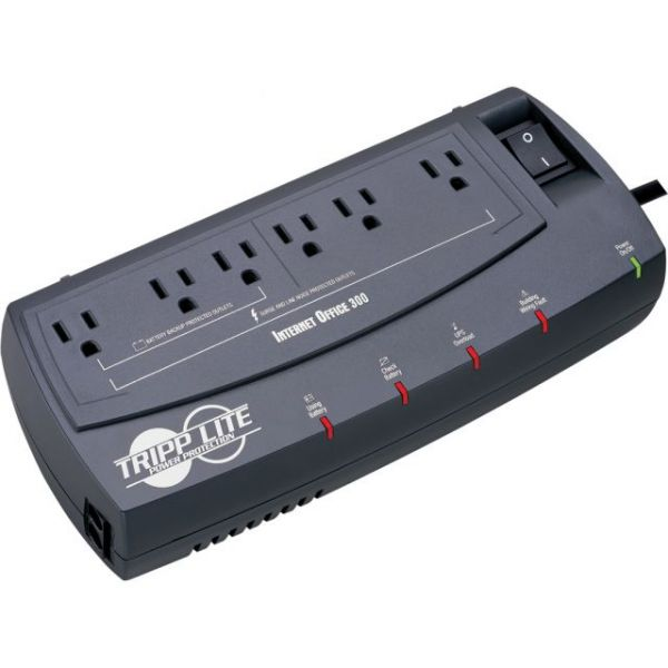 Tripp Lite UPS 300VA 150W Desktop Battery Back Up Compact 120V RJ45