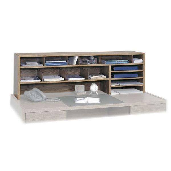 Safco High Capacity Wood Desktop Organizer
