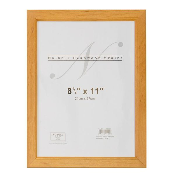 Nu-Dell Solid Oak Picture/Certificate Frame