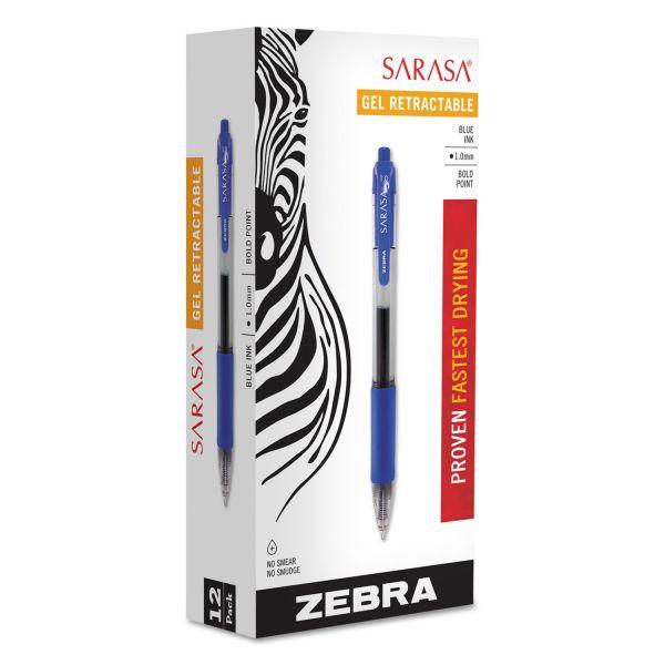 Zebra Pen Sarasa Bold Gel Retractable Pens