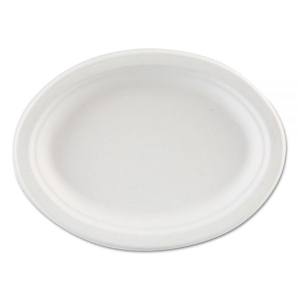 Chinet Premium Strength Molded Fiber Oval Platters