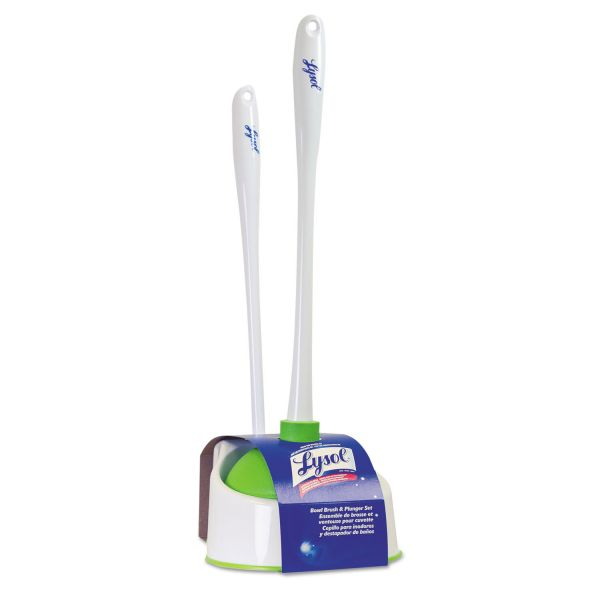 Lysol Bowl Brush with Plunger and Caddy