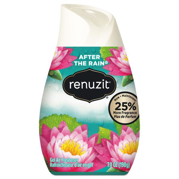 Renuzit Adjustables Air Freshener, After the Rain Scent, Solid, 7 oz, 12/Carton