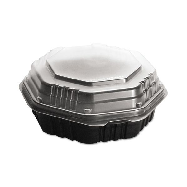 SOLO Cup Company OctaView Hinged-Lid Takeout Containers