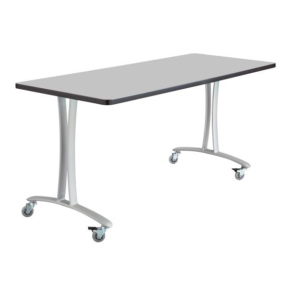 Safco Gray Rumba Training Table w/ T-legs/Casters
