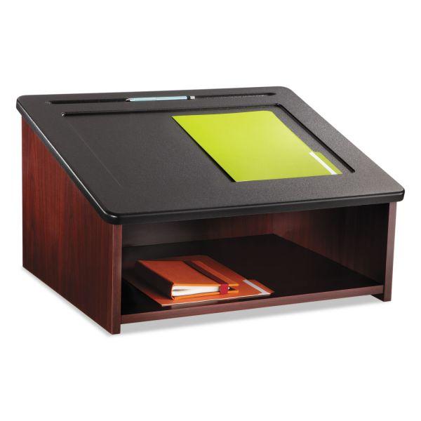 Safco Tabletop Lectern, 24w x 20d x 13-1/2h, Mahogany/Black