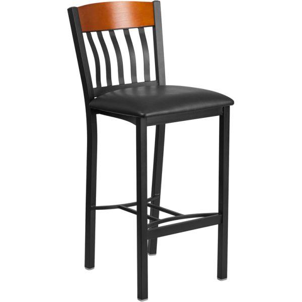 Flash Furniture Eclipse Series Vertical Back Barstool