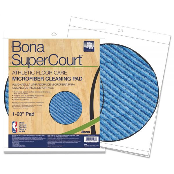 Bona SuperCourt Athletic Floorcare Microfiber Cleaning Pad