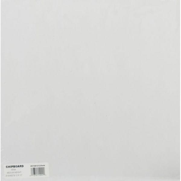 """Medium Weight Chipboard Sheets 12""""X12"""" 25/Pkg"""