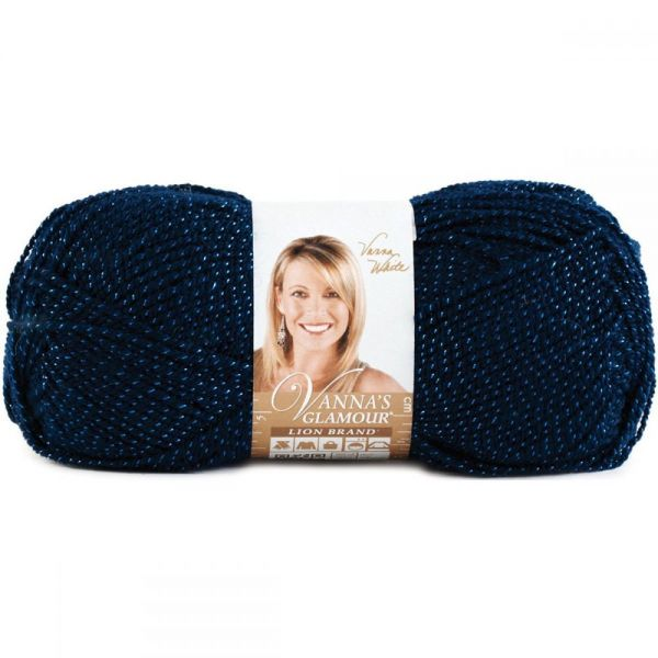 Lion Brand Vanna's Glamour Yarn - Sapphire