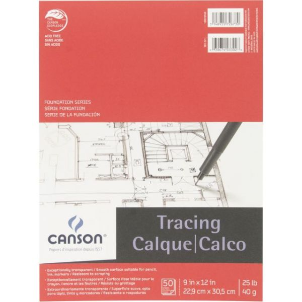 Canson Foundation Series Acid Free Tracing Paper Pad