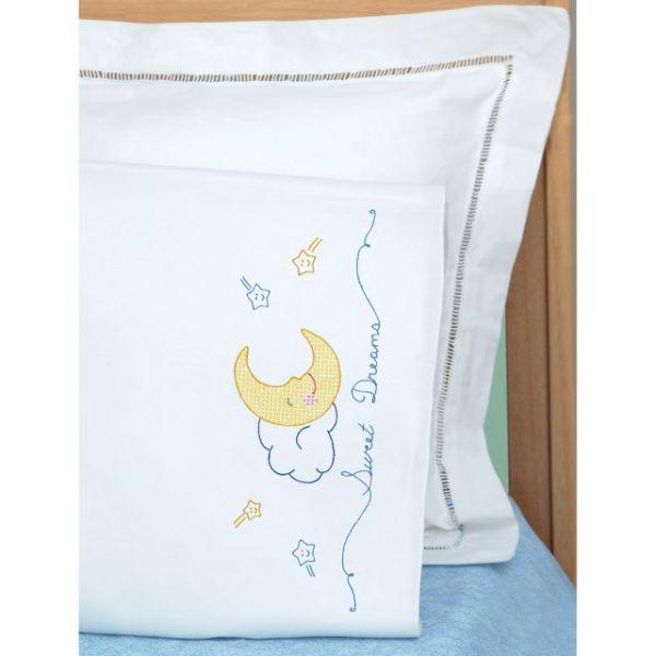 Children's Stamped Pillowcase W/White Perle Edge 1/Pkg