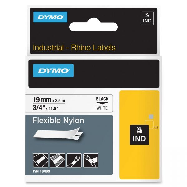 Dymo IND Rhino Industrial Permanent Nylon Label Tape