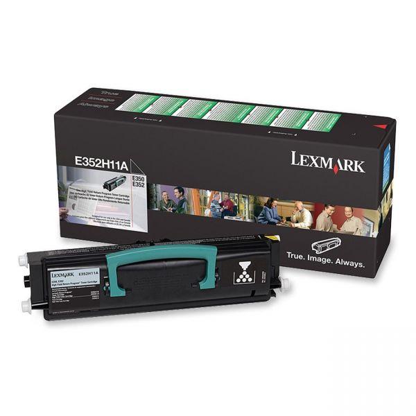 Lexmark E352H11A Black High Yield Return Program Toner Cartridge