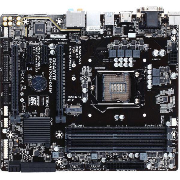 Gigabyte Ultra Durable GA-H170M-DS3H Desktop Motherboard - Intel Chipset - Socket H4 LGA-1151