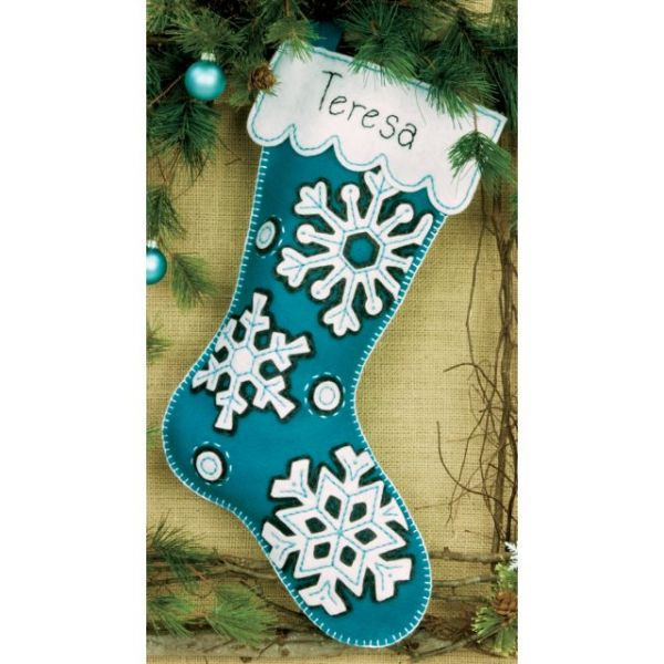 Flurries Stocking Felt Applique Kit