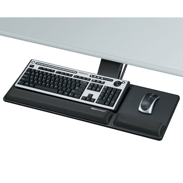 Fellowes Designer Suites Compact Keyboard Tray, 19w x 9-1/2d, Black