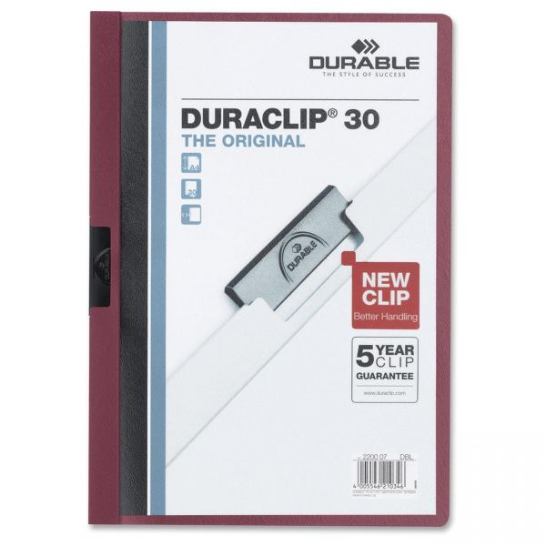 Durable DURACLIP Clear Front Report Cover