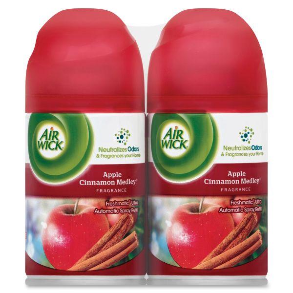 Air Wick Freshmatic Ultra Spray Refill, Apple Cinnamon Medley,Aerosol,6.17oz,2/PK, 3PK/CT