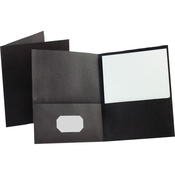 Esselte Black Two Pocket Folders