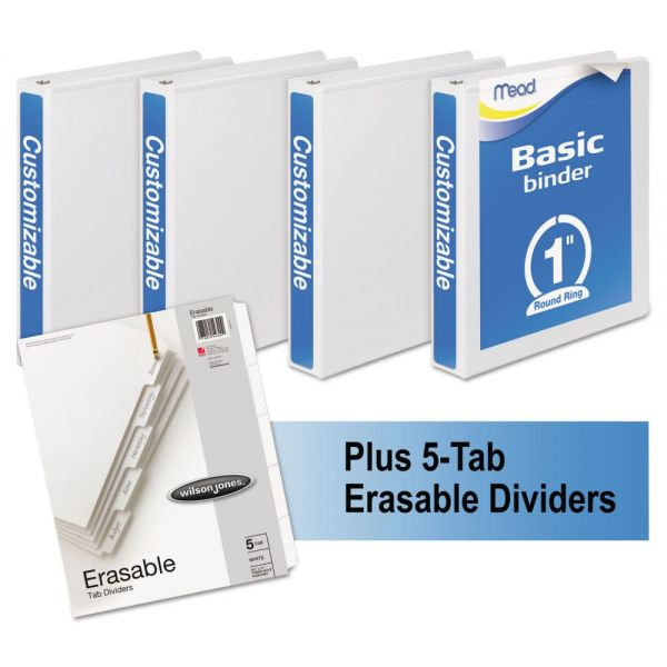 """Mead Economy 1"""" 3-Ring View Binders"""