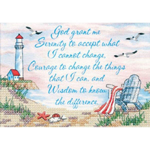 Serenity Prayer Mini Stamped Cross Stitch Kit