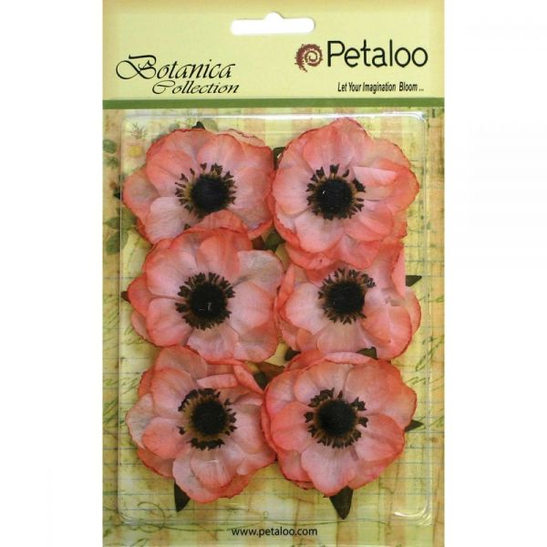 "Botanica Anemone Flowers 2"" 6/Pkg"