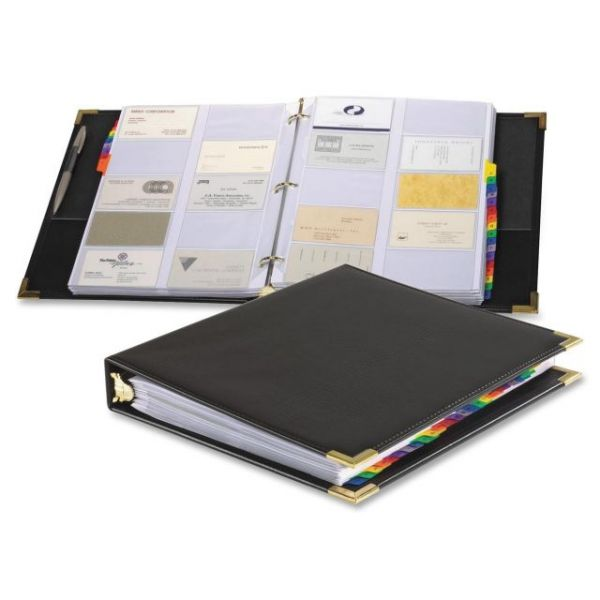 Cardinal Stafford Business Card Ring Binders