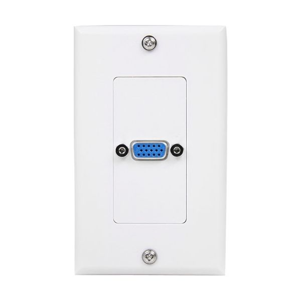 StarTech.com Single Outlet 15-Pin Female VGA Wall Plate - White