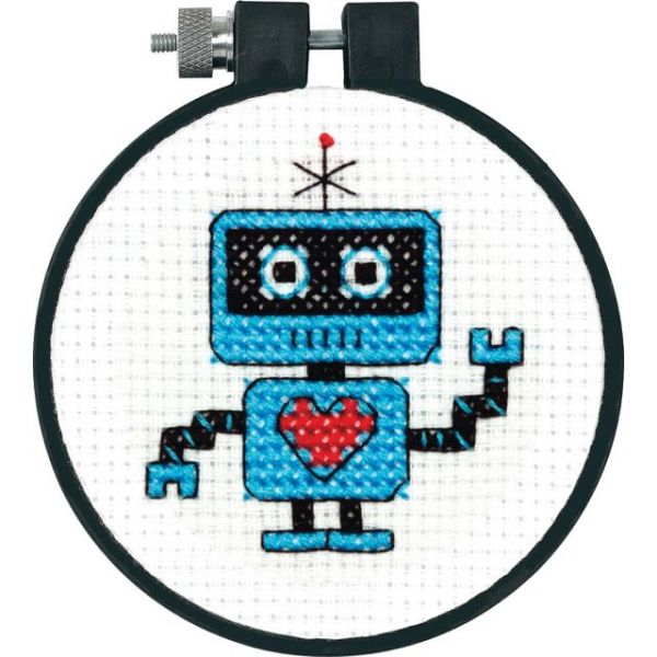 Dimensions Learn-A-Craft Robot Counted Cross Stitch Kit