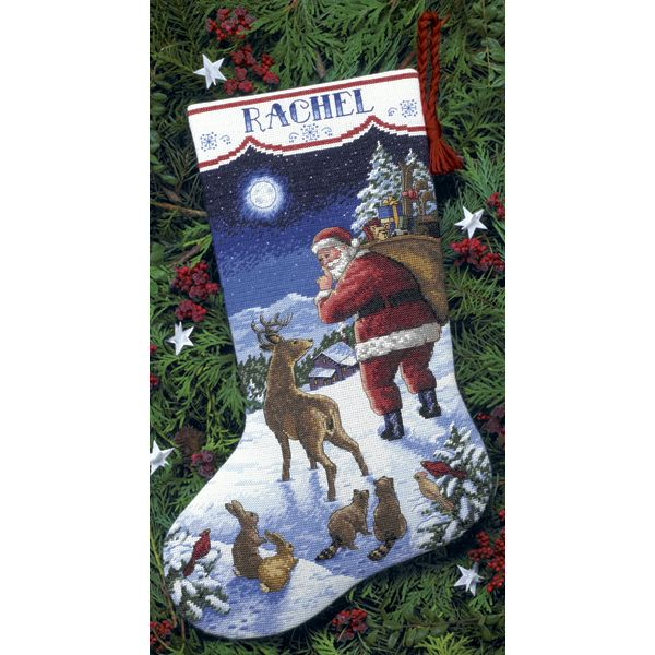 Dimensions Santa's Arrival Stocking Counted Cross Stitch Kit