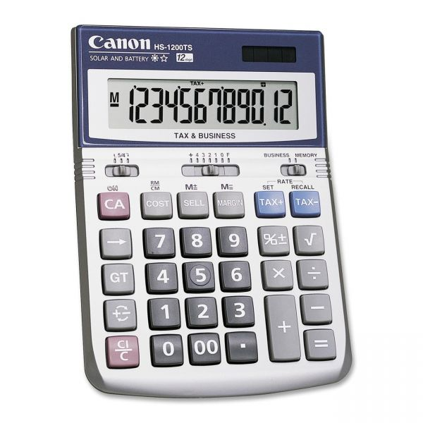 Canon HS-1200TS 12-Digit Angled Display Calculator