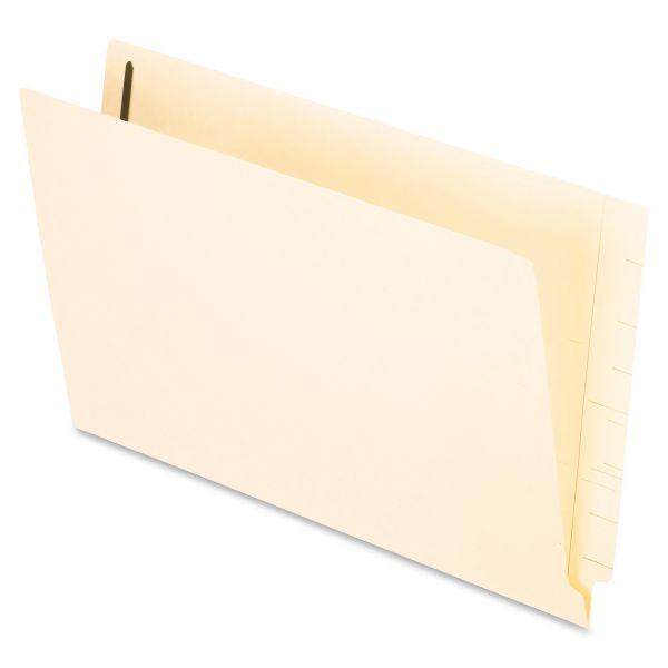 Pendaflex End Tab Expansion Folders, Two Fasteners, Straight Cut, Legal, Manila, 50/Box